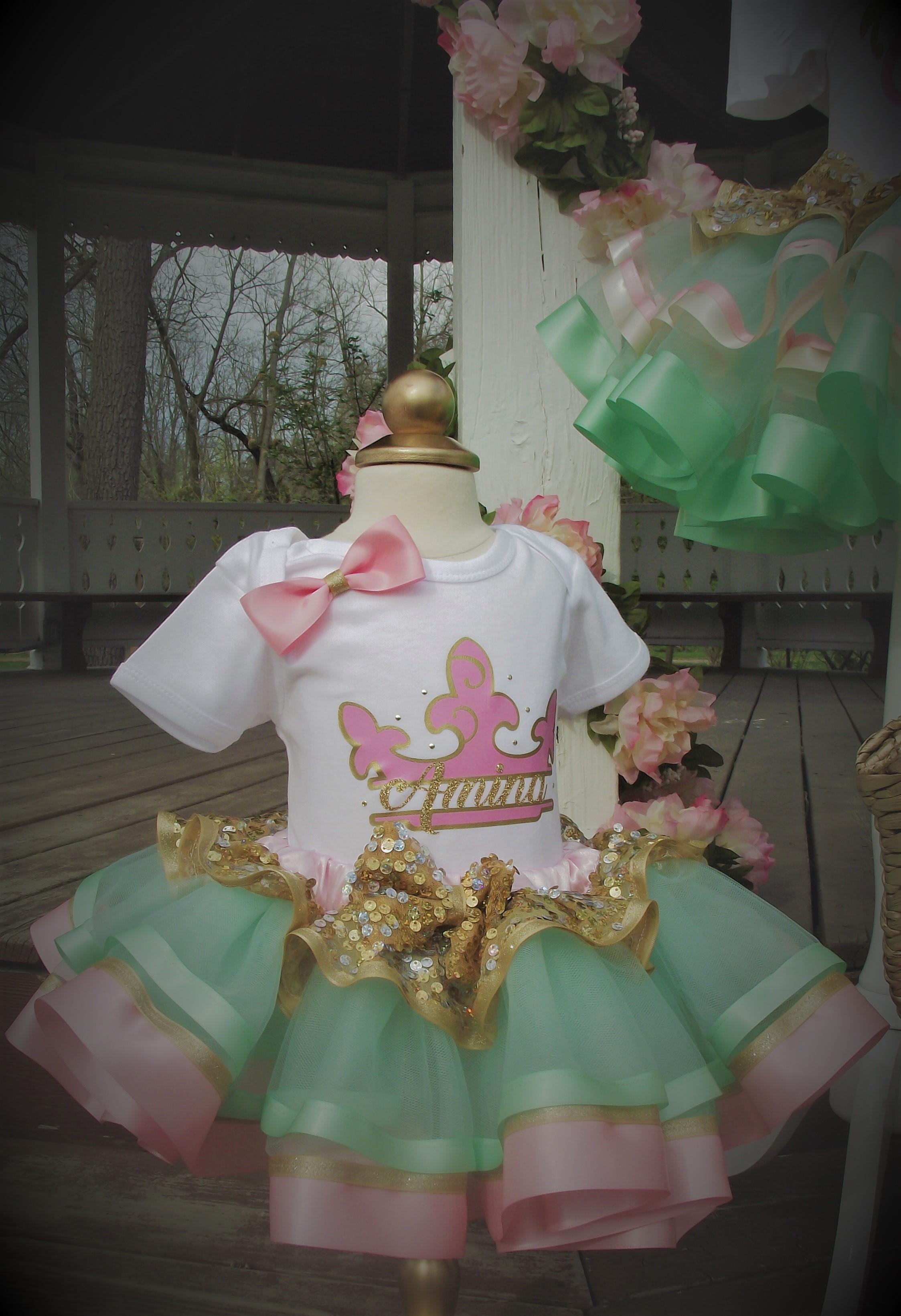 1st Birthday Vintage Princess Tutu Set