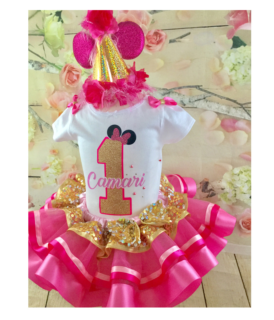 1st Birthday Minnie Inspired Birthday Outfit
