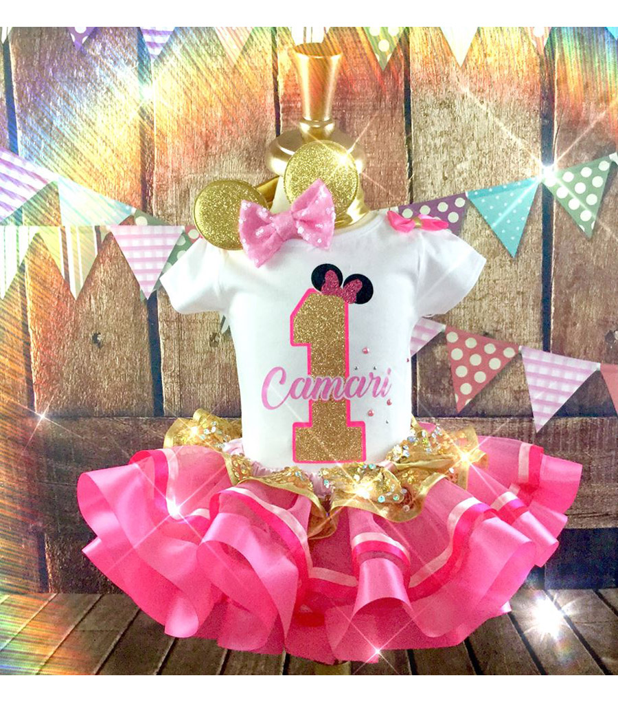 Minnie Inspired Tutu Birthday Set