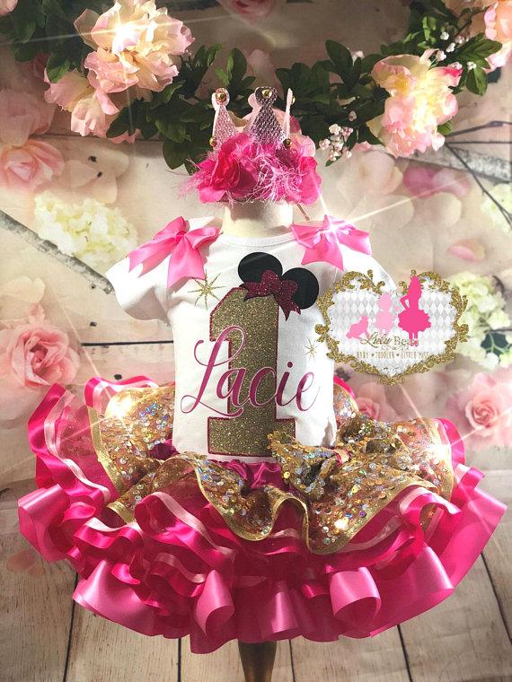First Birthday Minnie Inspired Birthday Tutu Set