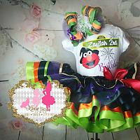 Halloween Edition Sesame Street Inspired Tutu