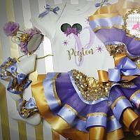 Lavender Minnie Inspired Initial Tutu Set