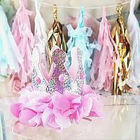 Girls Baby Birthday Crown