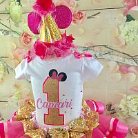 Minnie Mouse Inspired Birthday Hat