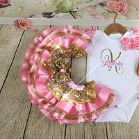 """Initial"" Birthday Girl Tutu Set"