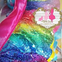 Itty Bitty Legend Rainbow Glam Sequins Tutu Set