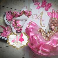 Pink Initial Birthday Tutu Set