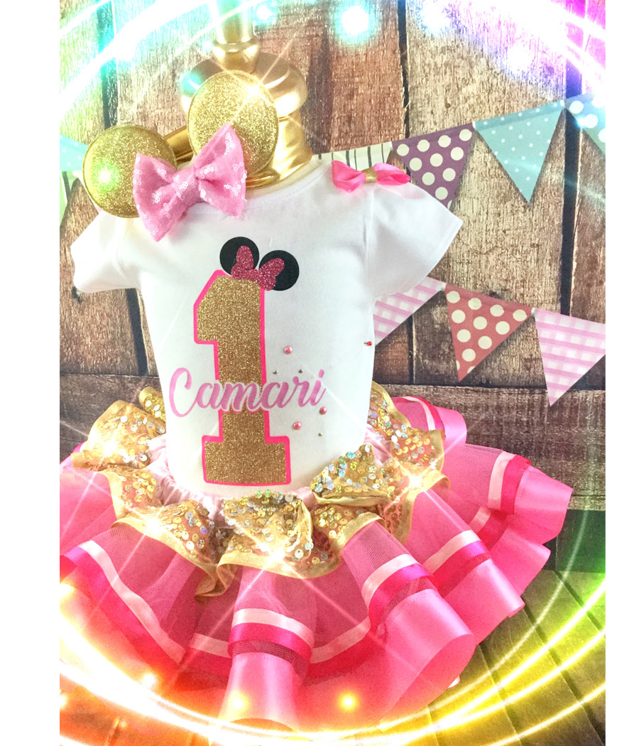 1st Birthday Minnie Inspired Birthday Outfit