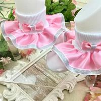 Boutique Style Satin Ruffle Glam Socks