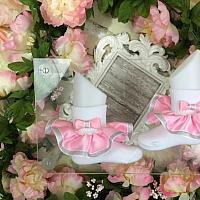 Boutique Style Satin Ruffle Glam Socks