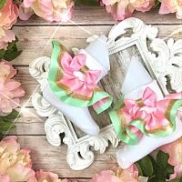 Princess Mint & Pink Inspired Ruffle Bobby Socks
